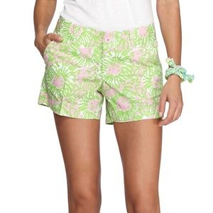 Lilly Pulitzer Callahan shorts in sunny side lion